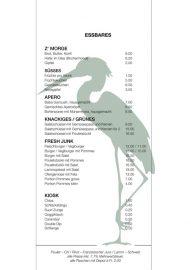 Lorrainebad Buvette Karte 2019 Essbares